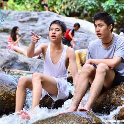 The Flukes did sentimental, dramatic performances in My Bromance. Considered one of the most successful Thai BL drama, but has too much tragedy in its story to be taken seriously.